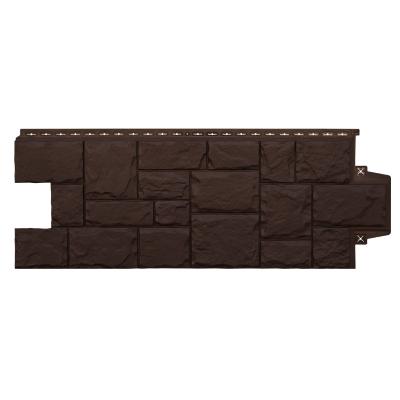 Фасадная панель Grand Line Крупный камень 417.4x1102.5 мм (коричневая)