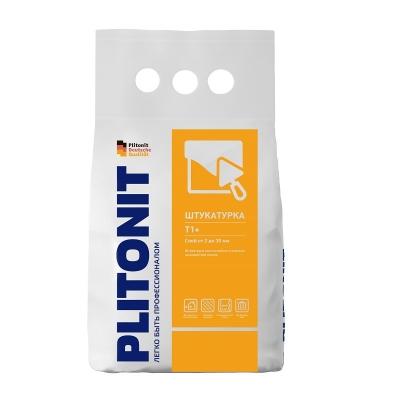 Штукатурка PLITONIT Т1+ (цементная с армирующим волокном) 4 кг