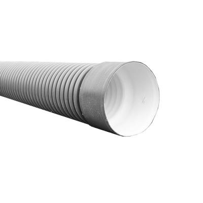 Труба безнапорная 400/348 мм (6 м) с раструбом серая SN4