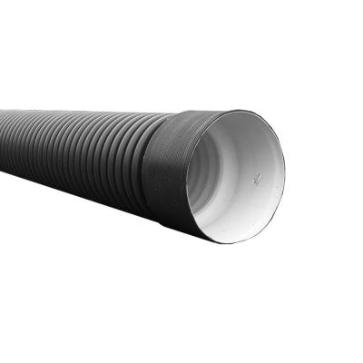 Труба безнапорная 250/218 мм (6 м) с раструбом с кольцом черная SN6