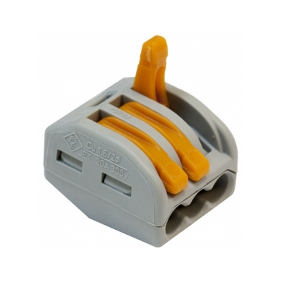 Клемма на 3 провода 0.08-4 мм² (6 шт) WAGO 222-413