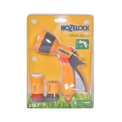 """Набор для полива HoZelock 2367 с пистолетом Multi Spray 5 режимов и коннекторами 3/4"""""""