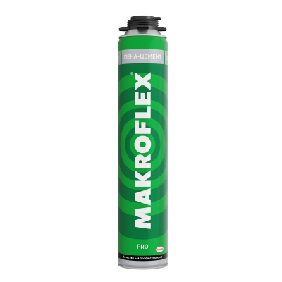 Пена-цемент монтажная Makroflex PRO профессиональная всесезонная 850 мл