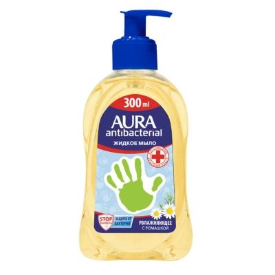 Мыло жидкое с ароматом ромашки Aura Antibacterial 0.3 л