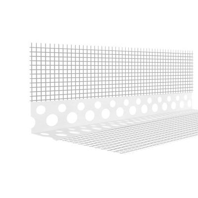 Уголок ПВХ перфорированный штукатурный с сеткой 10х15х2500 мм белый