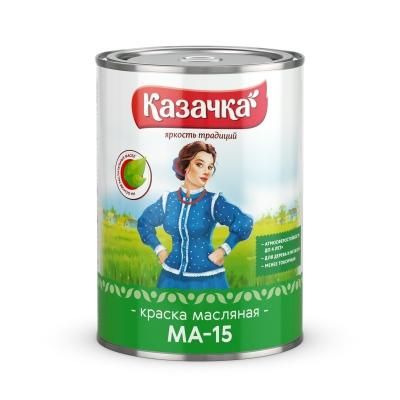 Краска масляная МА-15 бирюзовая Казачка Престиж 0.9 кг