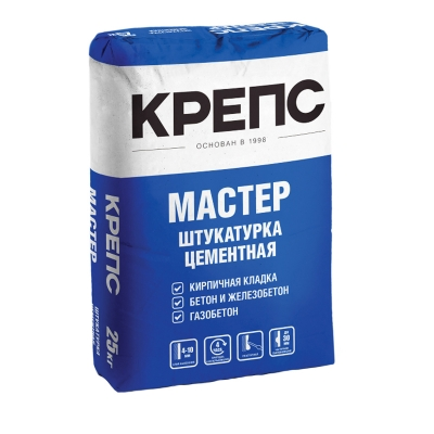 Штукатурка КРЕПС Мастер (цементная) 25 кг