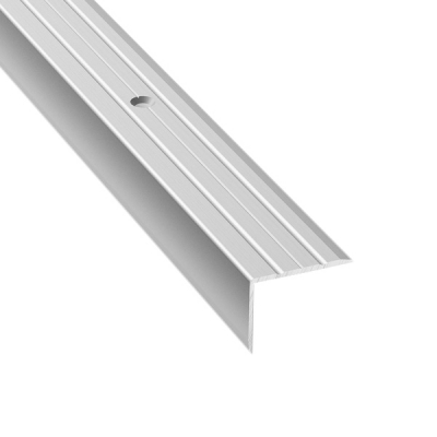 Порог для кромок ступеней Д3 24х18х900 мм серебро