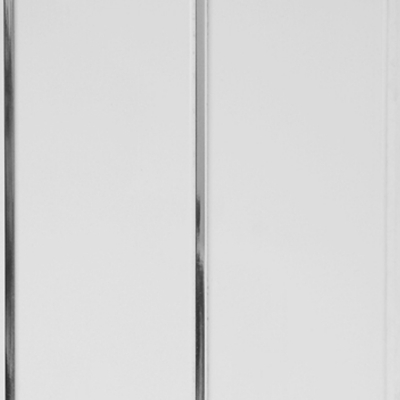 Панель ПВХ 200х3000 мм Софитто холст серый 2 полосы серебро вогнутая