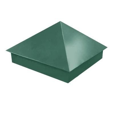 Колпак на столб 390х390 мм зелёный (RAL 6005) 0.45 мм