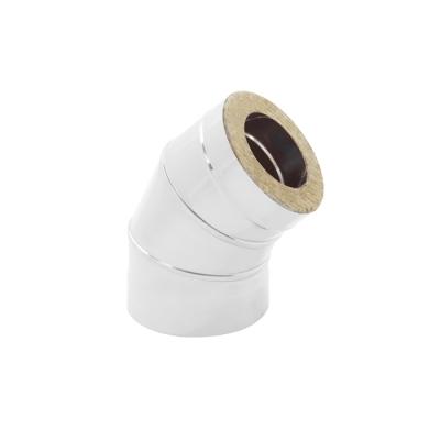 Колено-сэндвич 135° (AISI 430+нерж.сталь, 0.5 мм) d-115/200 мм УЦЕНКА*