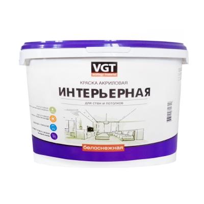 Краска влагостойкая интерьерная VGT ВД-АК-2180 белоснежная 15 кг