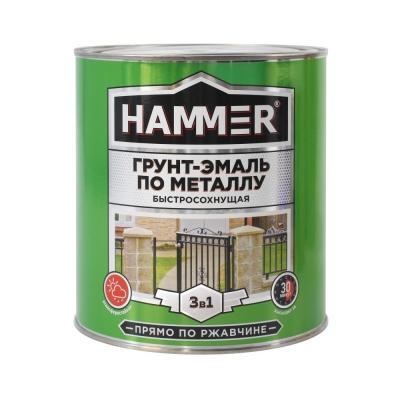 Грунт-эмаль по ржавчине 3в1 HAMMER черная 2.7 кг