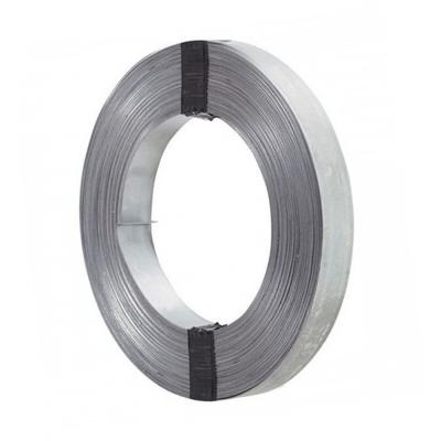 Лента упаковочная 0.5х20 мм (30 м) цинк без перфорации Крепко-Накрепко УЦЕНКА*