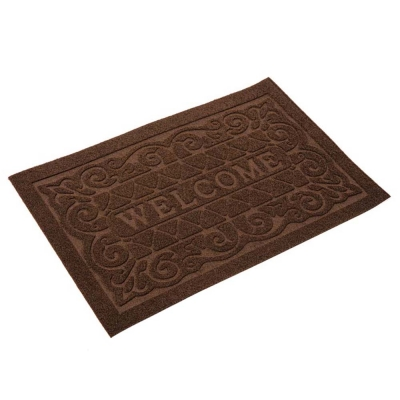 """Коврик фигурный """"Welcome"""" 45х70 см коричневый"""