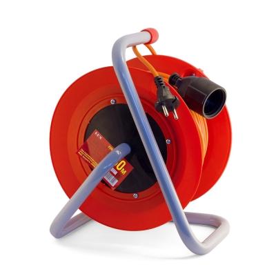 Удлинитель силовой на катушке с выносной розеткой LUX К1-О-30 (1х30 м, ПВС 2х1)
