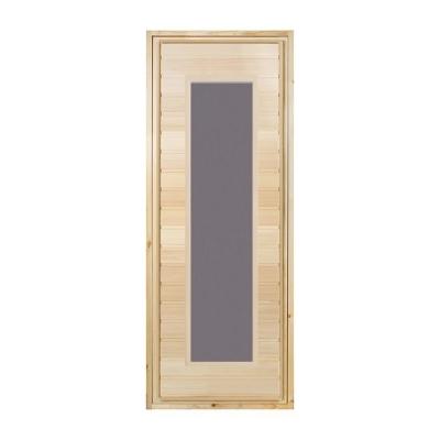 Блок дверной банный 700х1800 мм с притвором со стеклом (сорт А)