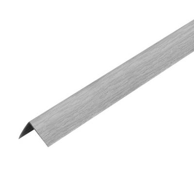 Уголок ПВХ Идеал 30х30х2700 мм ясень серый