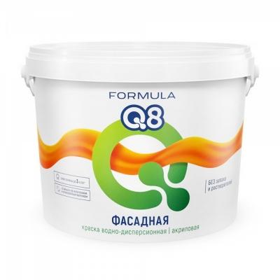 Краска полиакриловая фасадная Formula Q8 Престиж белая 5 кг