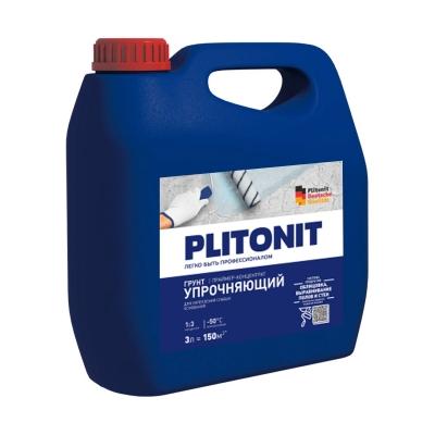 Грунт укрепляющий PLITONIT Грунт-3 (концентрат) 3 л