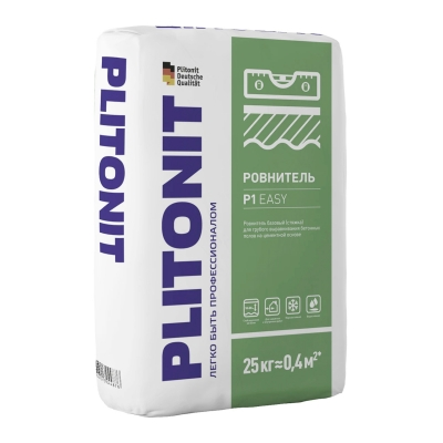 Ровнитель для пола PLITONIT P1 EASY (для грубого выравнивания) 25 кг