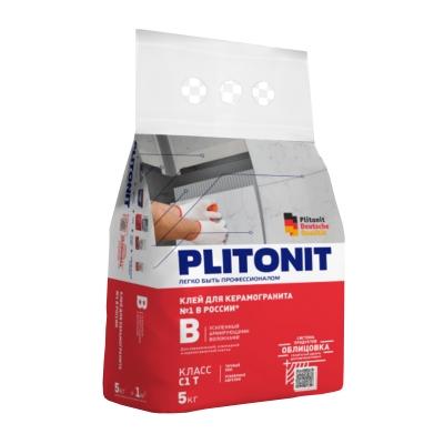 Клей для плитки PLITONIT B (усиленный) 5 кг