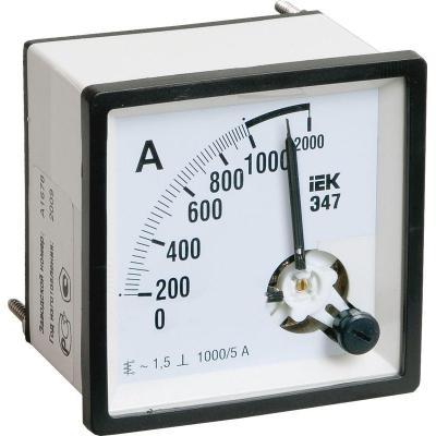Амперметр Э47 72х72мм 1000/5А кл. точн. 1.5 IEK IPA10-6-1000-E