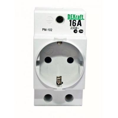 Розетка на DIN-рейку PM-102 16А 2Р+РЕN Schneider Electric