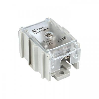 Блок распределительный проходной РБП 35 (1х35-4х6кв.мм) 125/50А PROxima EKF RBP-35-50