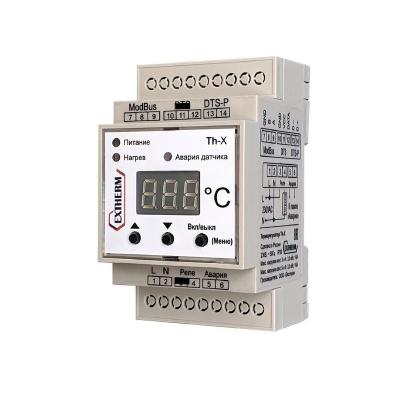 Термостат универсальный одноканальный для управления системами электрообогрева с передачей данных через интерфейс RS-485 по протоколу MOD_BUS/RTU EXTHERM Th-X
