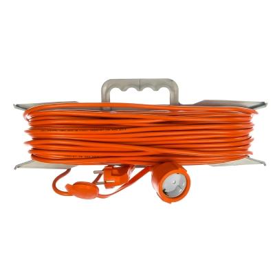 Удлинитель-шнур на рамке UNIVersal УШ-10 оранжевый (1х20 м, ПВС 3х0.75, с крышкой, с/з)