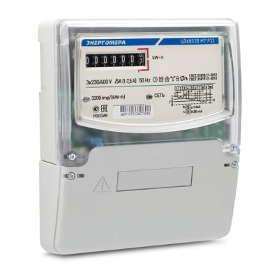 Счетчик электроэнергии Энергомера ЦЭ6803В Р32 5(60)А трехфазный однотарифный