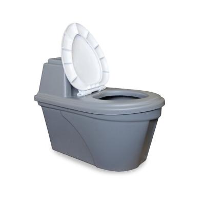 Биотуалет торфяной компостирующий Практик Комфорт (с выносной емкостью) серый