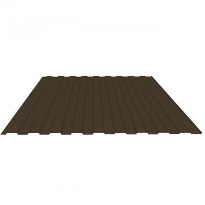 Профнастил С8 0.35 мм 1200х2000 мм шоколадно-коричневый (RAL 8017)