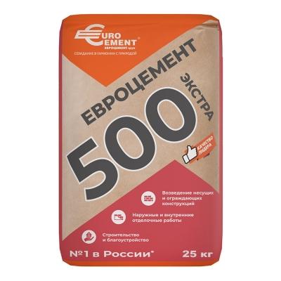 Цемент М-500 (ЦЕМ I-42,5Н) Евроцемент 25 кг