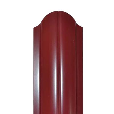 Штакетник R-образный (фигурный) 1800 мм винно-красный (RAL 3005)