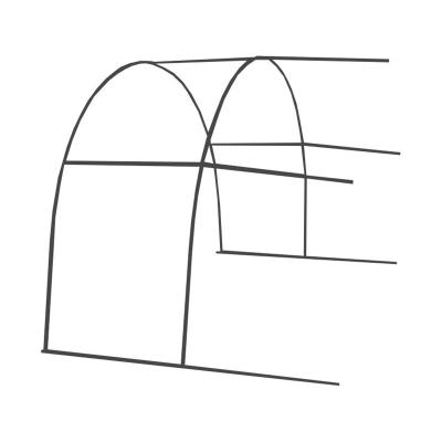 Комплект удлинителя теплицы Удачная цинк (без поликарбоната)