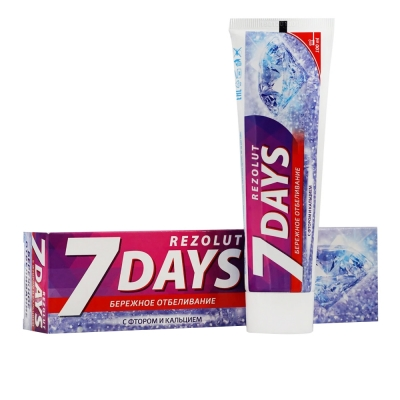 Зубная паста бережное отбеливание 7 days Rezolut (100 мл)