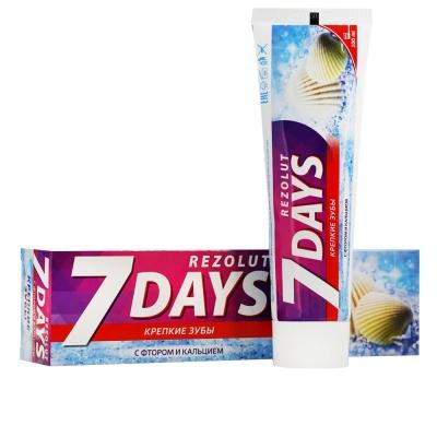 Зубная паста крепкие зубы свежее дыхание 7 days Rezolut (100 мл)