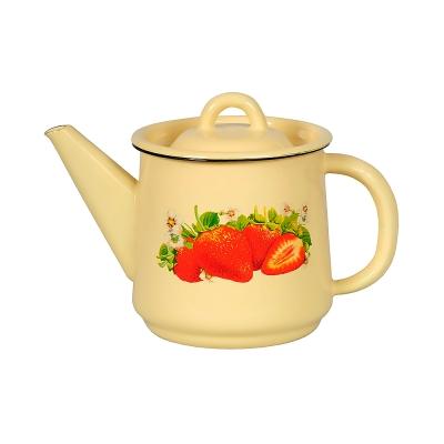 Чайник эмалированный с декором СтальЭмаль (1 л) 1С202С