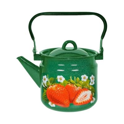 Чайник эмалированный с декором СтальЭмаль (3.5 л) 1С26С