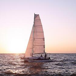 Тренировки на парусных лодках г. Ейск