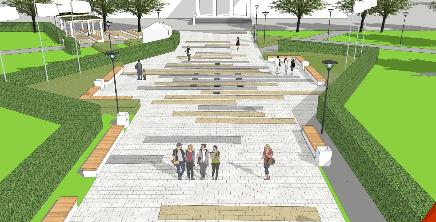 Пешеходный фонтан с подсветкой появится в Арзамасе