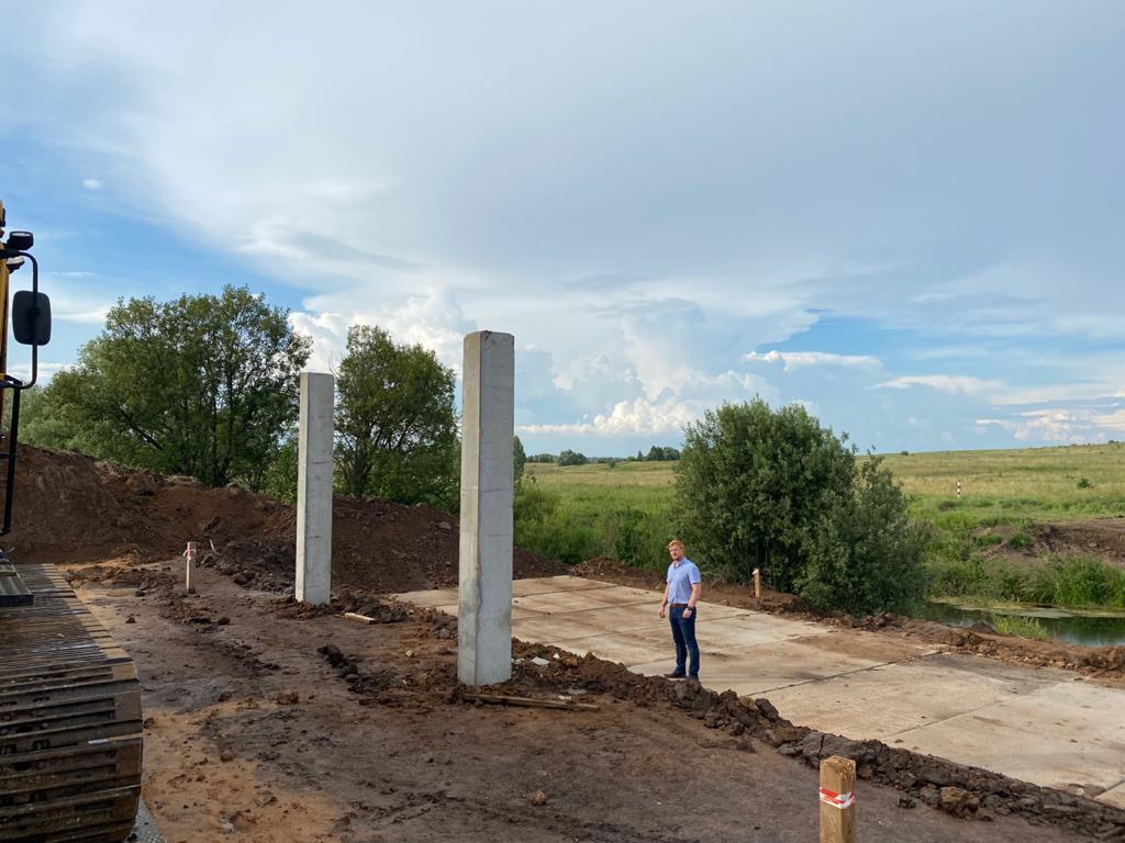 На участке северо-восточного обхода села Дивеева началось строительство моста через реку Вичкинзу