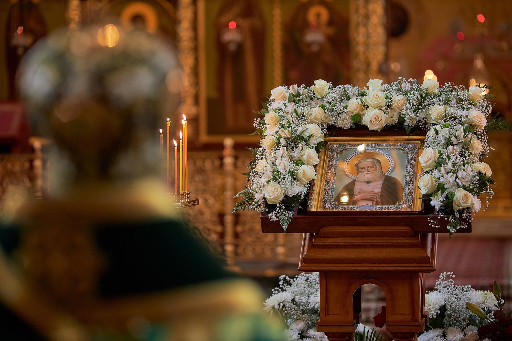Божественная литургия в Свято-Успенском монастыре – Саровской пустыни в день памяти преподобного Серафима Саровского