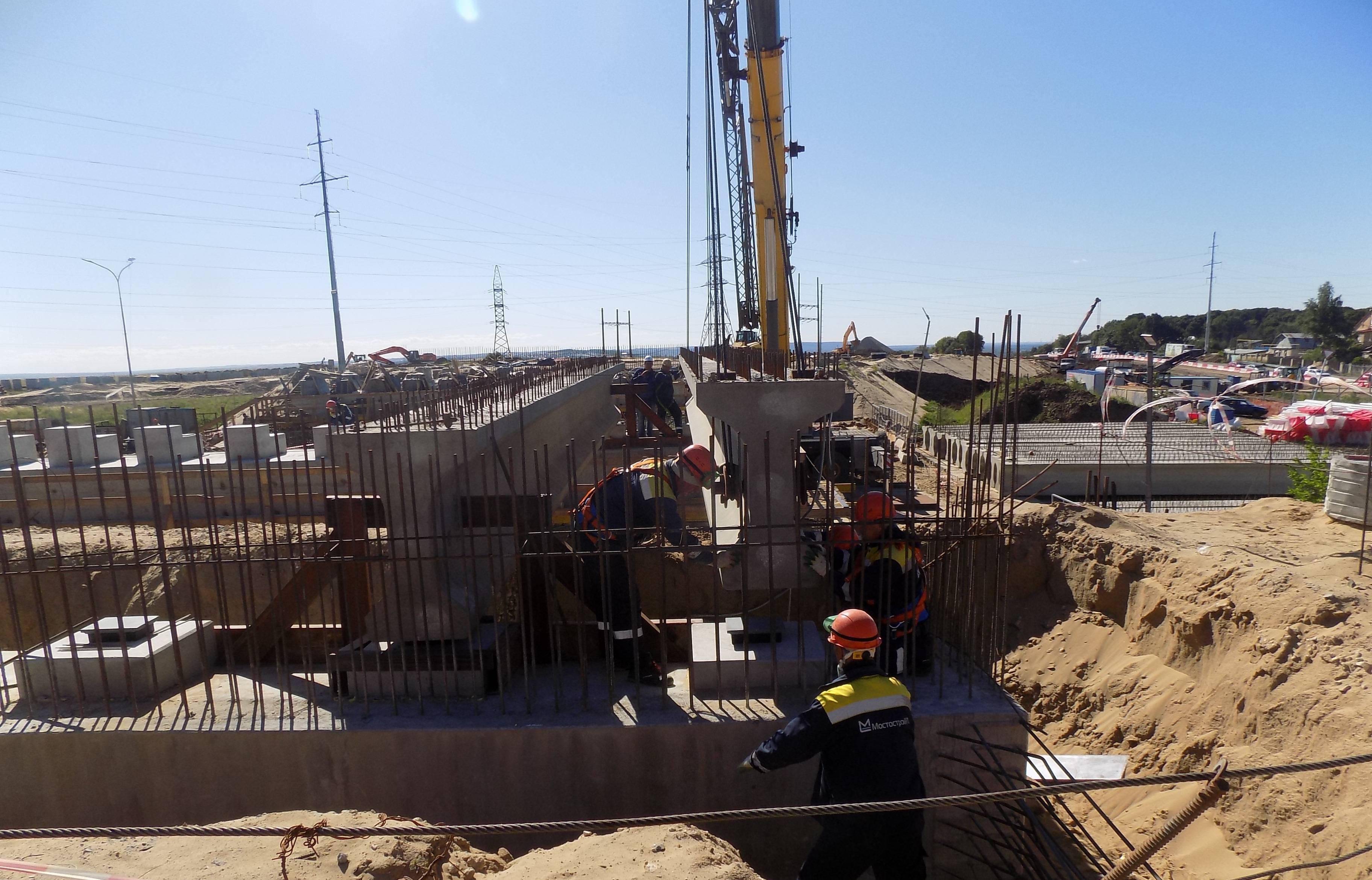 В Нижегородской области продолжается строительство будущей развязки в деревне Ольгино