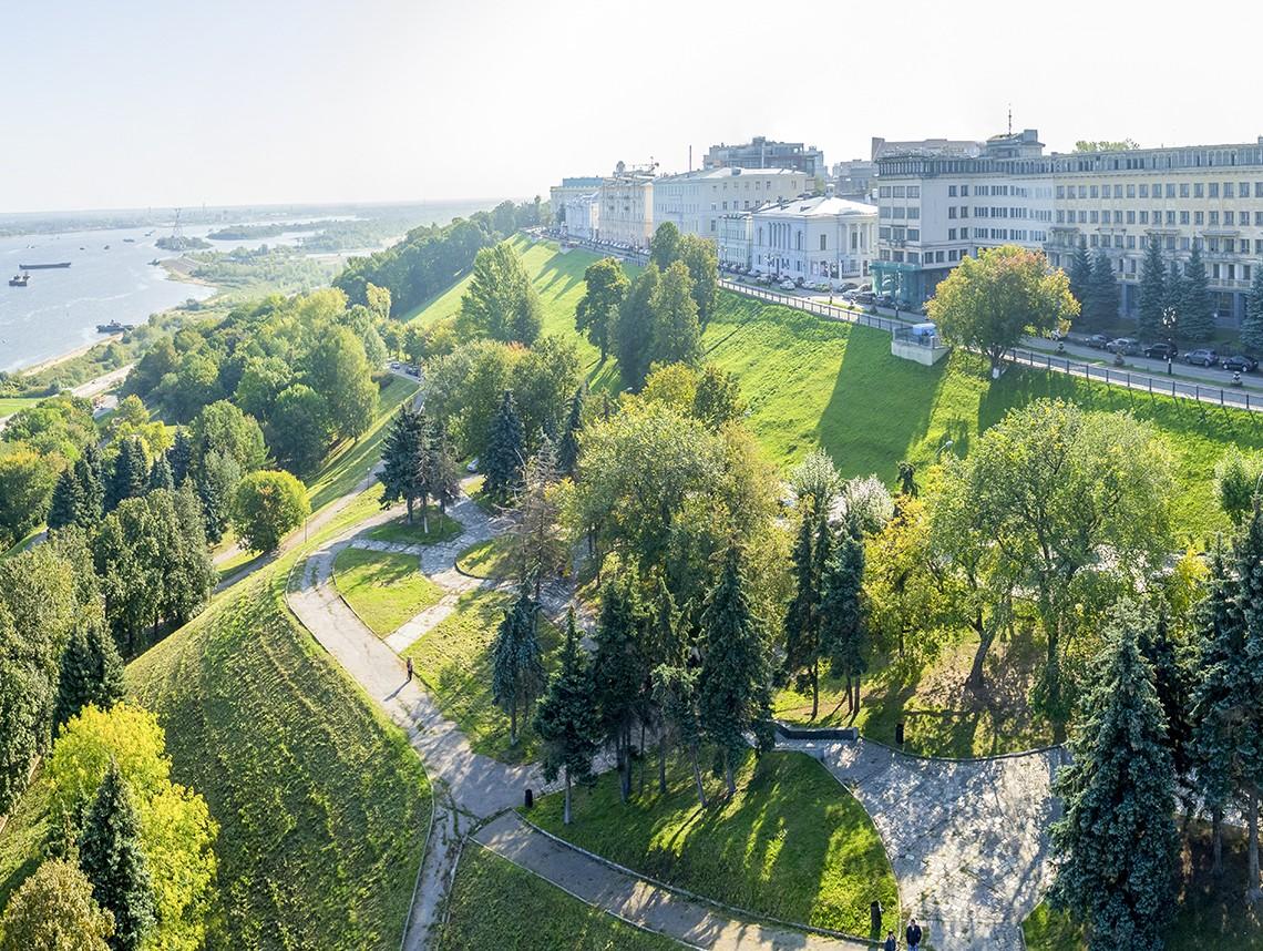 Концепция развития Александровского сада в Нижнем Новгороде была представлена 12 марта