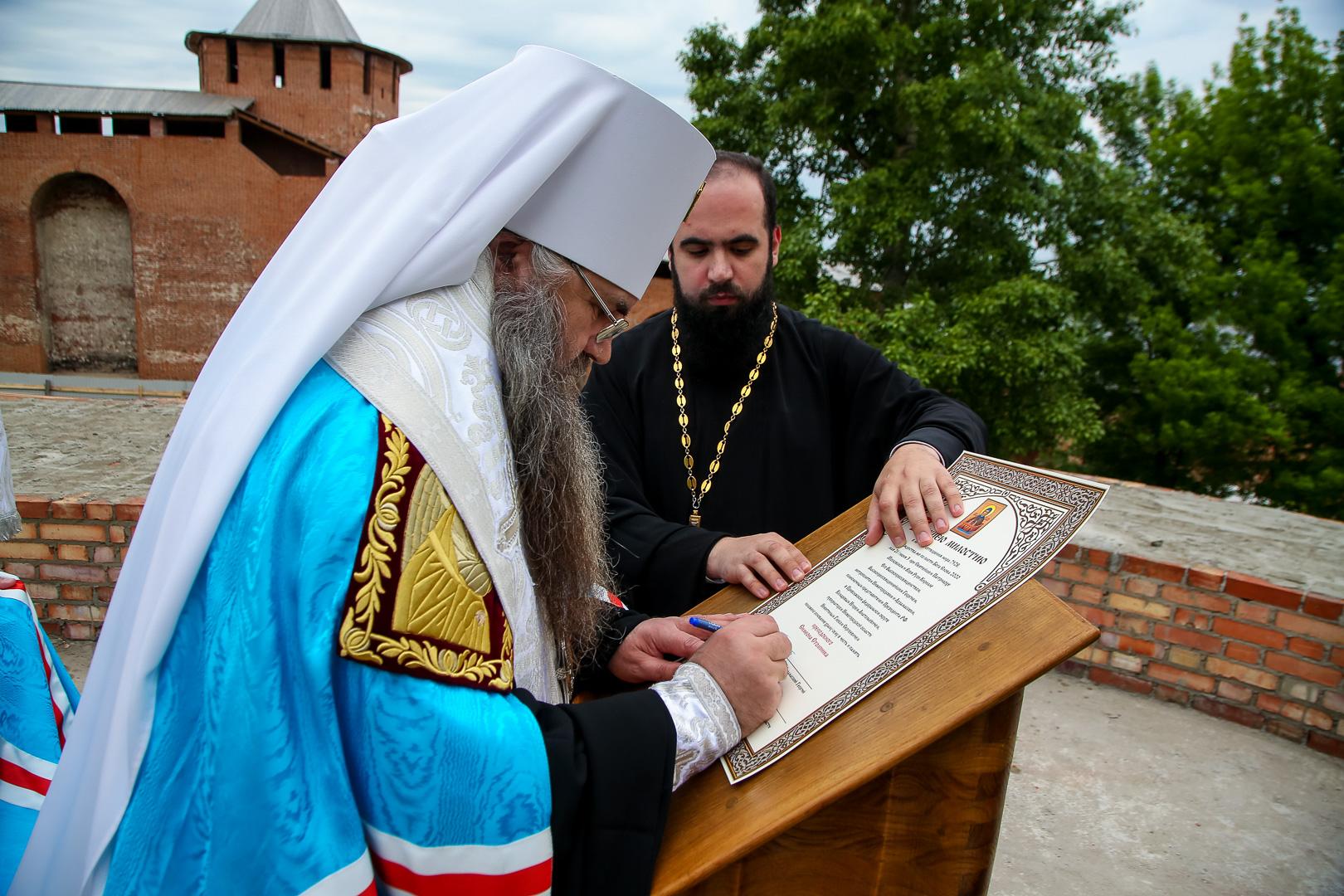 В Нижегородском кремле состоялась закладка храма в честь преподобного Симеона Столпника