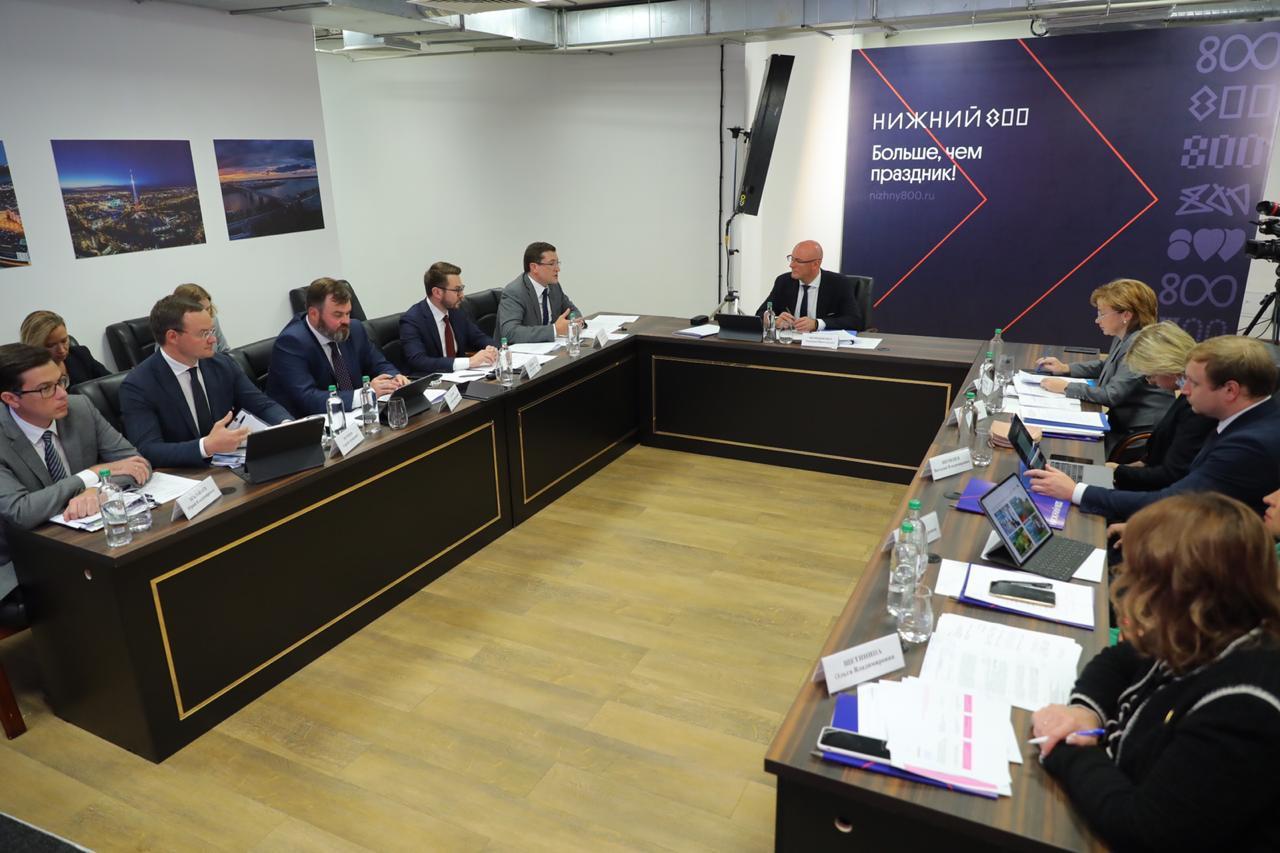 Дмитрий Чернышенко и Глеб Никитин обсудили подготовку празднования юбилея Нижнего Новгорода