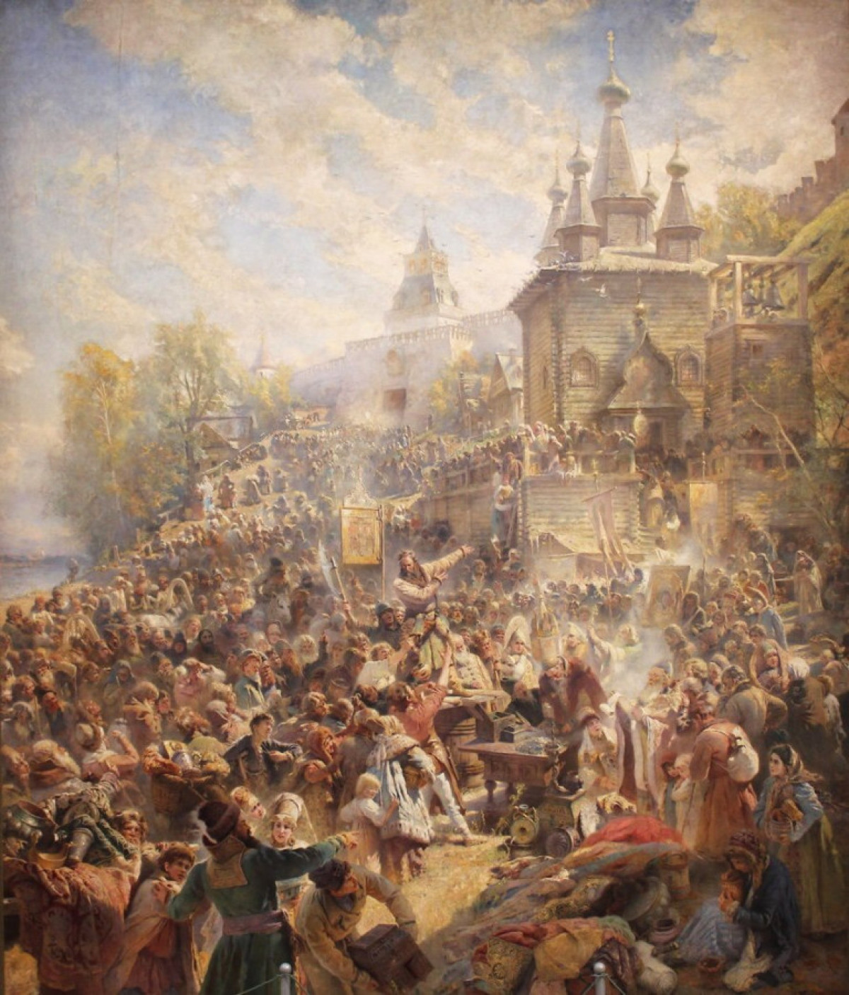 Нижегородцы смогут воссоздать картину «Воззвание Минина» из своих портретов
